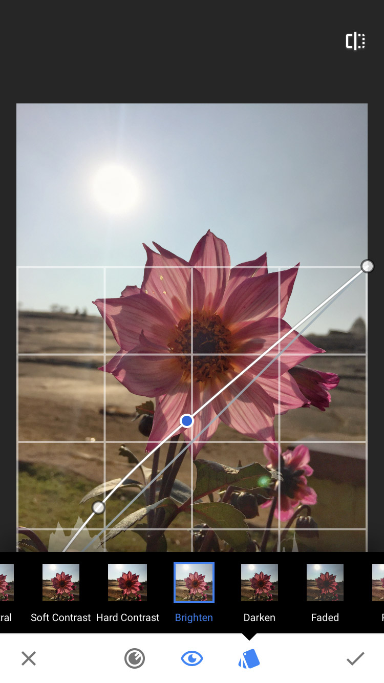 Edit a backlit photo taken with your mobile phone using