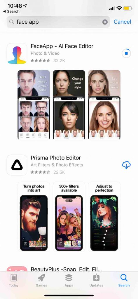 Download FaceApp and age your photo